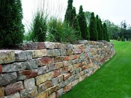 image of how to build stone retaining wall