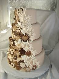 Chocolate Flowers Butterflies Wedding Cake Four Tier Rou Flickr