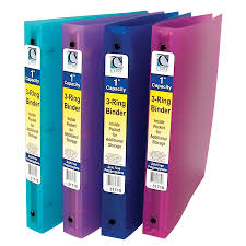 3 4 Inch Binders Amazon Com C Line 3 Ring Poly Binder With Inner Pocket Letter