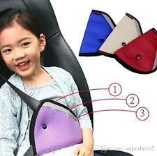 child seat belt adjuster car safety cover strap adjuster pad harness comfortable protection children kids keep belt away from neck and face by