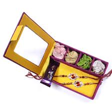charming two brother rakhi set in gift box for usa canada