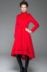 long red wool coat red coat wool coat tie belt coat wool coat women long wool