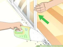 how to remove a sliding glass door from its track image titled clean sliding glass door