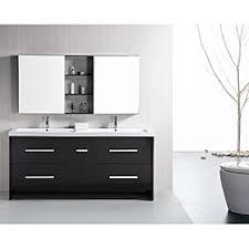 bathroom place vanity contemporary: design element perfecta modern  inch doublesink bathroom vanity set