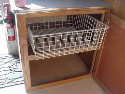 Image of: Wire Basket Drawers Kitchen