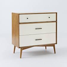 white 3 drawer chest. Mid-Century 3-Drawer Chest - White + Acorn 3 Drawer