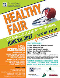 Health Fair Flyers Healthy Fair Decatur County Memorial Hospital In Greensburg Health