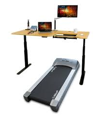 thermotread gt desk treadmill with elite frame and omega everest thermodesk table top