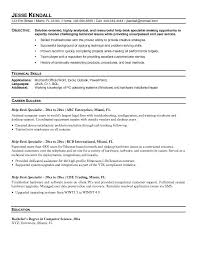 help desk resume helpdesk sample entry level