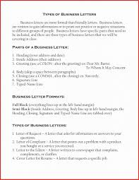Types Of Letters Format Cover Letter Semi Block Format Copy Types