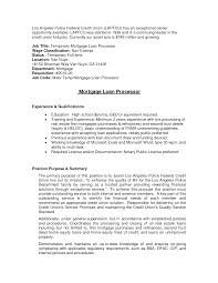 ... Sample Inspiration Mortgage Loan Processor Resume for Example Legal  Resume ...