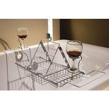 bathtub rack tray and caddy bathroom wine glass phone ipad racks reading holder