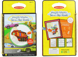 magic water drawing book coloring book doodle with maagic pen painting board juguetes for children education drawing toy vehicle theme