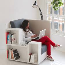 Comfortable chair for reading, working, study and storage