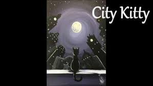 painting with a twist city kitty
