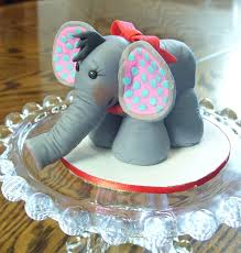 Cake Decorating Animal Figures Jungle Animals 3d Figures 3d Elephant Figure With Red Bow And