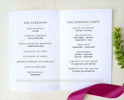 simple clear wedding program template