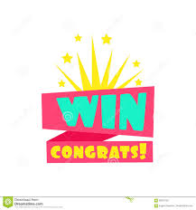 Win Congratulations Sticker Design Template For Video Game