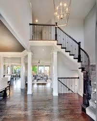 Story Entry Way New Home Interior Design Open Floor Plan - Model homes interior design