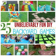 25 unbelievably fun diy backyard games featured