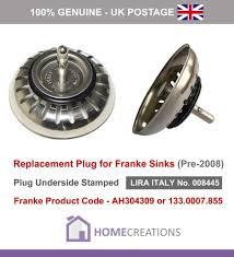 franke sink plug for basket strainer waste old style