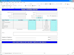 Expenses Report Sample Excel Travel Expense Report Travel Expense Form Expenses