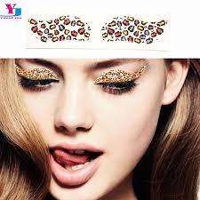 makeup leopard face paint leopard print y leopard eyeshadow fake tattoo water transfer 2pairs box eyeliner