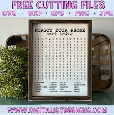 Craftbox this listing is perfect for crafters, designers and decorators that are looking for premade works. Free Bathroom Word Search Svg Digitalistdesigns