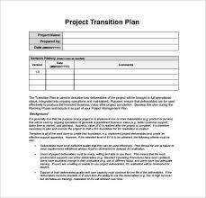 Transition Plan Template Word Transition Plan Template 7 Free Word Excel Pdf