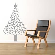 Grey Christmas Tree Christmas Tree Wall Sticker By Spin Collective