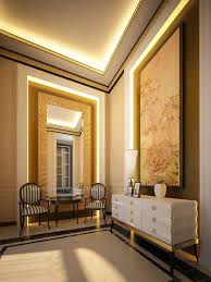 small foyer lighting. Interior Design Futuristic Foyer Lighting With White Cabinet On The Black Floor Small