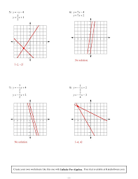 solving systems of equations by graphing worksheet new systems 1275534
