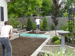 Landscape  Garden And Patio Low Maintenance Simple Backyard Simple Backyard Garden Ideas