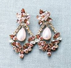 blush chandelier earrings blush rose and pearl chandelier earrings blush pink chandelier earrings