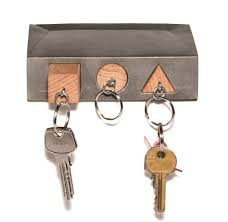 Simple Interior Decor with Small Key Holder Wall Mount, Three Hook Key  Rack, and