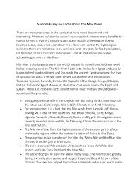 fact essay sample essay on facts about the nile river claim of  sample essay on facts about the nile river sample essay on facts about the nile river