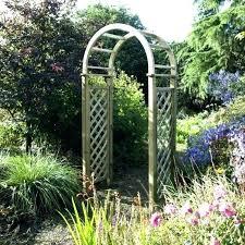 wooden garden arch arches for