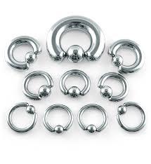 Circular Horseshoe Rings 16 Gauge 2 Gauge
