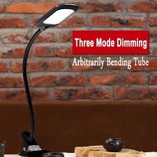 dimmable led table lamp 5w usb flexible clip on clamp desk lamp task light book light