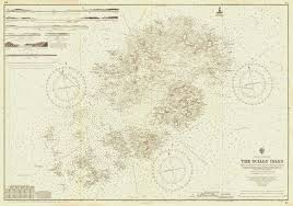 Vintage Nautical Chart Admiralty Chart 34 The Scilly Isles