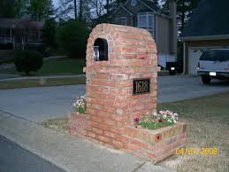 Brick Mailbox Designs Southern Country Brick Mailboxes Ideas For