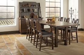 coaster padima 105708 66 25 84 25 l counter height rustic dining table set