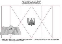 folding card template diamond fold card template cu4cu cup348890_99 craftsuprint