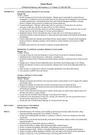 Global Product Manager Resume Samples Velvet Jobs