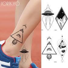 Iоригинальная треугольная планета временные татуировки женские модные наклейки
