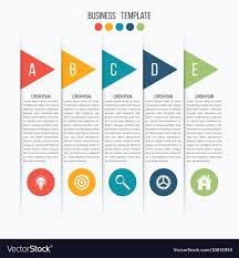 Arrows Infographic Template For Diagram Royalty Free Vector