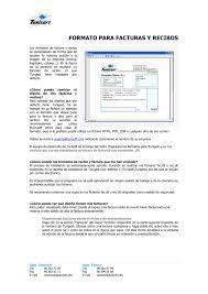 Formatos De Factura Formato Para Facturas Y Recibos Los Formatos De Factura Y