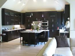 Dark Wood Cabinets Kitchen Color Schemes For Kitchens With Black Cabinets Outofhome