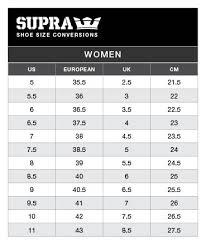 Size Guide Supra Bait