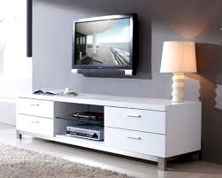 white media console furniture. Modern White Media Consoles With Storage And Table Chrome Lamp: Full Size Console Furniture L